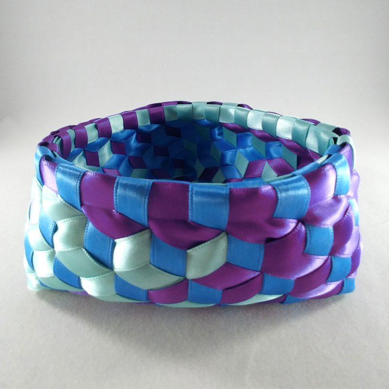 Triangle Madweave Basket with vertical sides