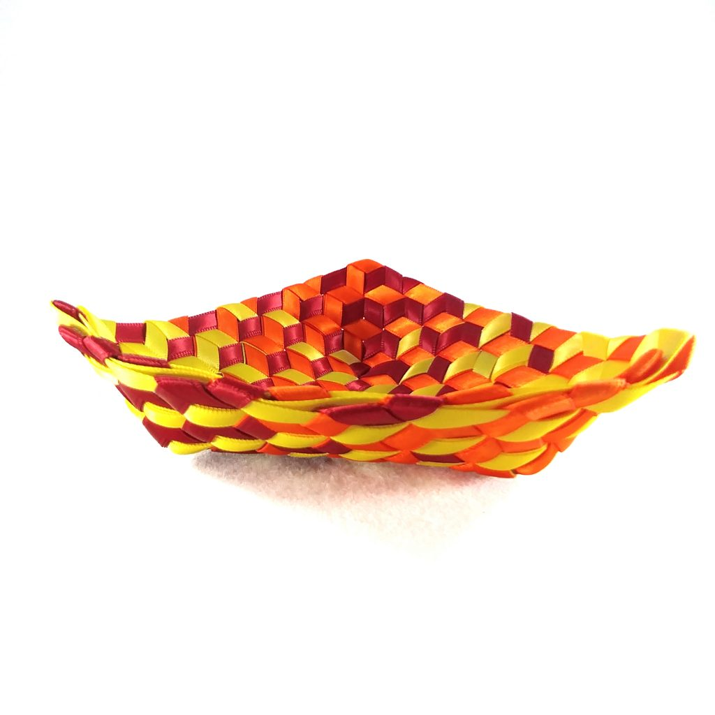 Triangle Madweave Basket with slanted sides